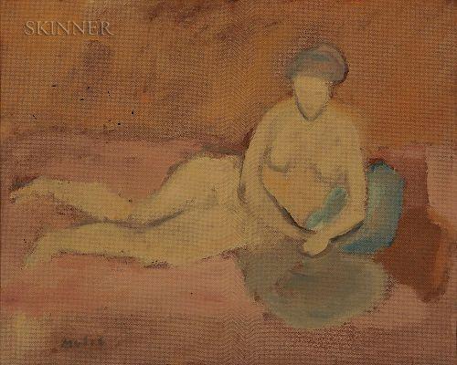 Zoran Antonio Music (Slovenian/Italian, 1909-2005)  Nudo (Reclining Nude)