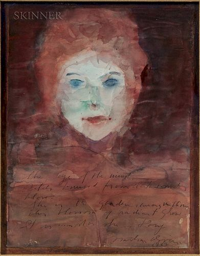 Nathan Oliveira (American, 1928-2010)  Portrait of Dory Previn