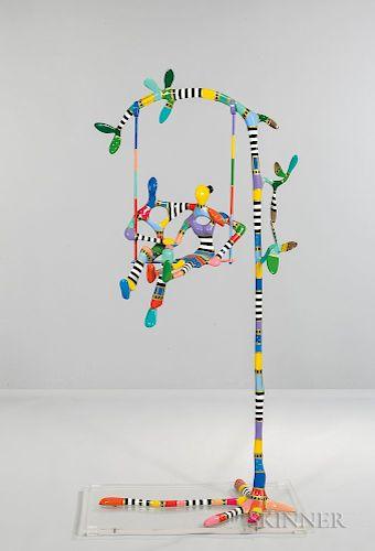 Dorit Levinstein (Israeli, b. 1956)  The Swing