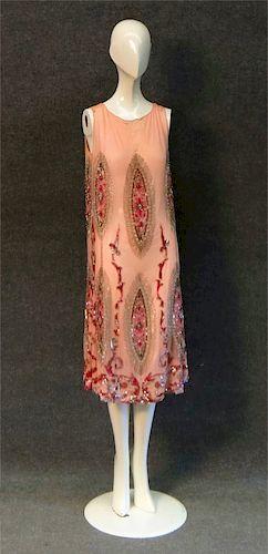 "1920'S BEADED ""FLAPPER DRESS & EARLY VINTAGE SUN"