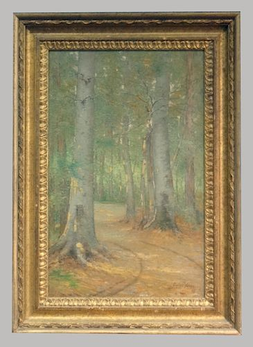 """O/C """"FOREST PATH"""" SGND CULLEN YATES, 1898"""