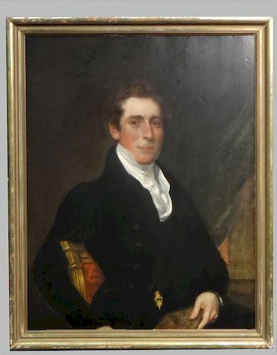 PORTRAIT OF A GENTLEMAN  ATTRIB TO GILBERT STUART