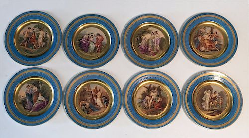 SET OF 8 SHOW PLATES W/ CLASSICAL SCENES