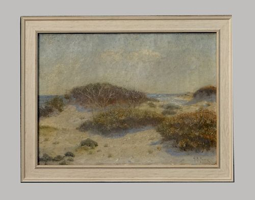 """O/C """"SEA GLIMPSE FROM THE DUNES"""" SGND H.R. POORE"""