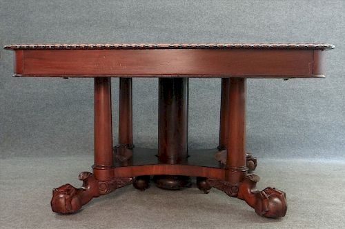 EMPIRE REVIVAL DINING TABLE W/ GADROONED EDGE