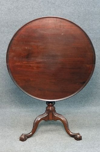 PHILA CHIPPENDALE DISH TOP TABLE W/ BALL & CLAW FT