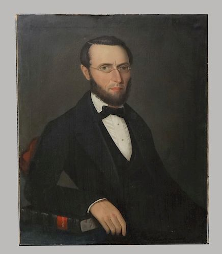 O/C PORTRAIT BY AMMI PHILLIPS OF ASA BECKWITH