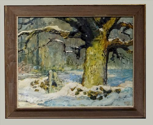 """O/C """"WHITE OAK TREE"""" SGND COULTON WAUGH"""