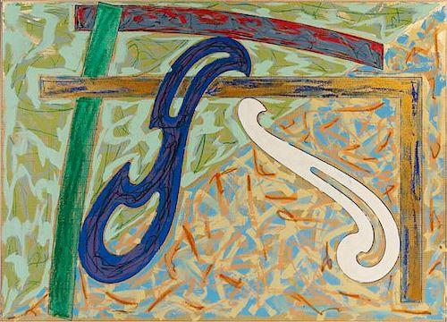 Frank Stella, (American, b. 1936), Green Solitaire, 1979