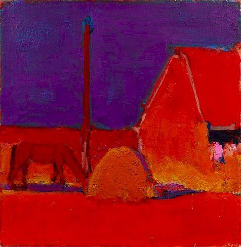 * Anatoliy Kryvolap, (Ukrainian, b. 1946), Sunset, 2000