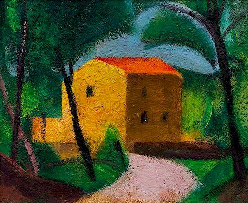 Miguel Villa Bassols, (Spanish, 1901-1988), Poblo de Segur, 1983