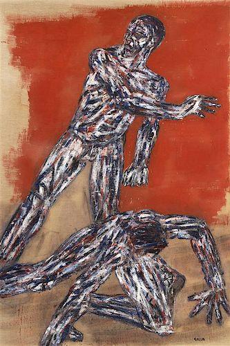 * Leon Golub, (American, 1922-2004), Fallen Fighter