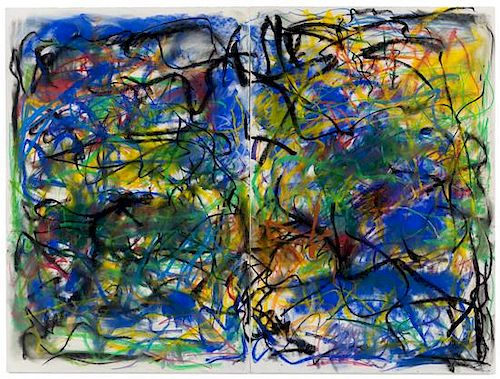 * Joan Mitchell, (American, 1925-1992), Untitled (PASTEL), 1991 (diptych)