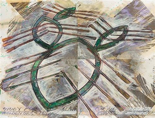 "Dennis Oppenheim, (American, 1938-2011), Quadriptych: Study for ""Slave Cactus"", 1991"