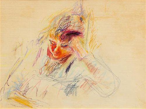 Wolf Kahn, (American, b. 1927), Girl Resting