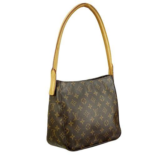 8fcea51d1286 Louis Vuitton Brown Monogram Looping MM Bag. Lot 32. Prev Lot · Next Lot ·  item Image