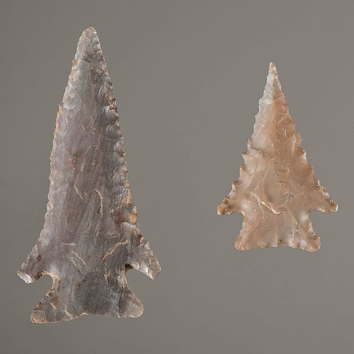 """Pine Tree"" Flint Points, From the Collection of Jan Sorgenfrei, Ohio"