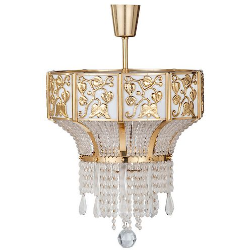J l lobmeyr brass and crystal chandelier by cowans auctions inc item image aloadofball Image collections