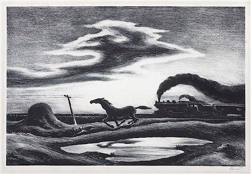 * Thomas Hart Benton, (American, 1889-1975), The Race, 1942