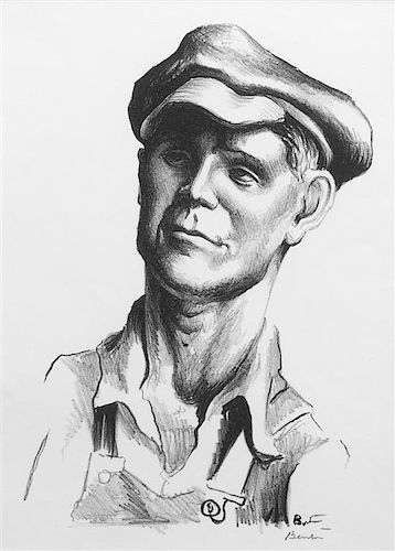 * Thomas Hart Benton, (American, 1889-1975), Five works: The Joads, Grapes of Wrath including Pa Joad, Ma Joad, Sharon Joad, Tom