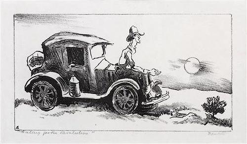 * Thomas Hart Benton, (American, 1889-1975), Waiting for the Revolution, 1934
