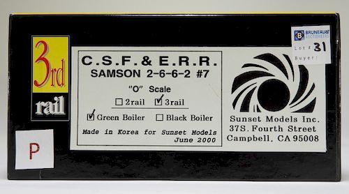 3rd Rail C.S.F. & E.R.R. Samson 2662 #7 O Train