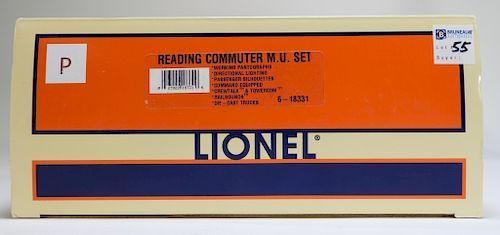 Lionel Reading Commuter M.U. Engine Train Set