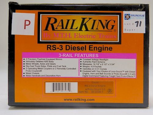 Rail King Circus RS-3 Diesl Engine O Gauge Train