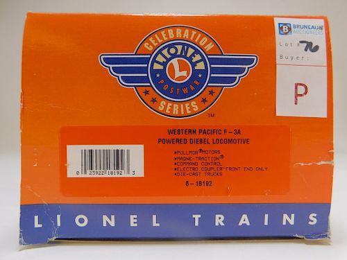 Lionel Western Pacific F-3A Powered Diesel O Train