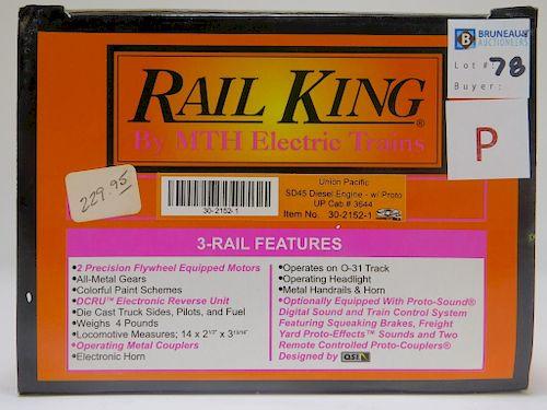 Rail King Union Pacific SD45 Diesel Engine O Train
