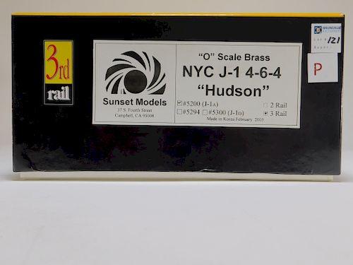 Sunset 3rd Rail O Brass NYC J-1 Hudson Train