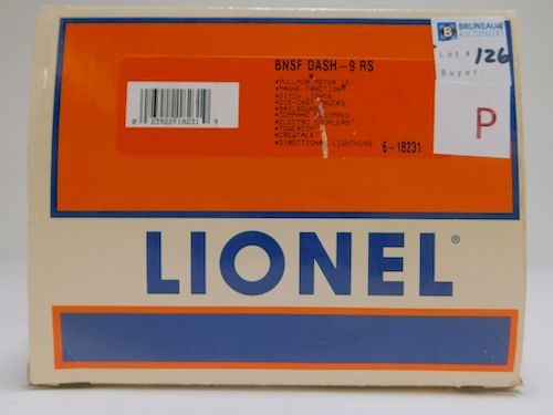 Lionel BNSF Dash-9 RS O Gauge Electric Train