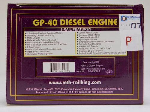 MTH Seaboard GP-40 Diesel Engine O Gauge Train