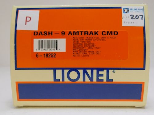 Lionel Dash-9 Amtrak Command Locomotive O Train