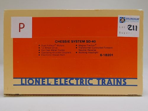 Lionel Chessie System SD-40 O Gauge Engine Train