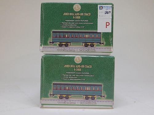 2PC Lionel John Bull Add-On Coach Car Train