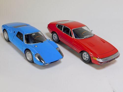 2PC Kyosho Ferrari 365 GTB 4 & Porsche 904 GTS