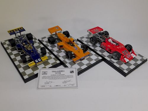 3PC Carousel 1 Indy 500 McLaren Diecast Car Models