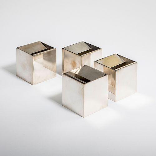 Four 'Cubo' - '2000A' ashtrays, 1957