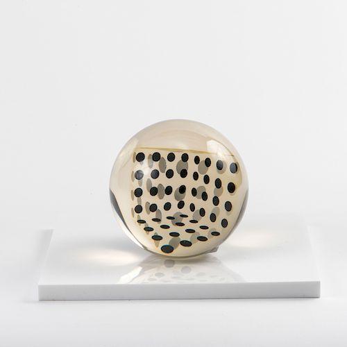 'Deformazione ottico-dinamica di un cubo in una sfera, serie a punti C', 1959-63