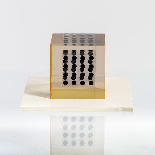 'Deformazione ottico-dinamica - cubo, serie a punti E', 1959-63