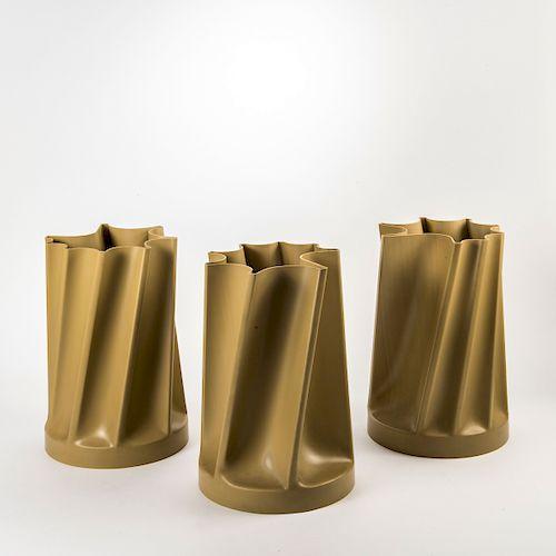Three 'Tortiglione' - '3083C01' vases, 1969