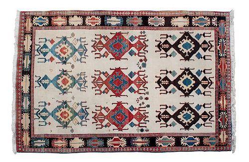 An Afshar Persian Tribal Wool Rug 6' x 8'