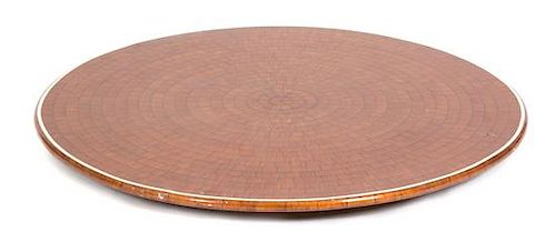 A Lacquered Wood Lazy Susan Diameter 35 1/2 inches.