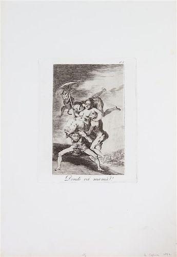 Francisco de Goya y Lucientes, (Spanish, 1746-1828), Donde va Mama, from Los Caprichos, 1892