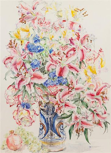 Wefe Deliss, (American, 20th Century), Floral Still Life with Lilies