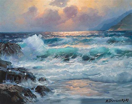 Alexander Dzigurski, (American, 1911-1995), Evening Seascape