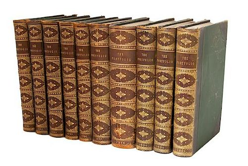 [BINDINGS] 10 VOLUMES - The Portfolio Edited by Philip Gibert Hamerton