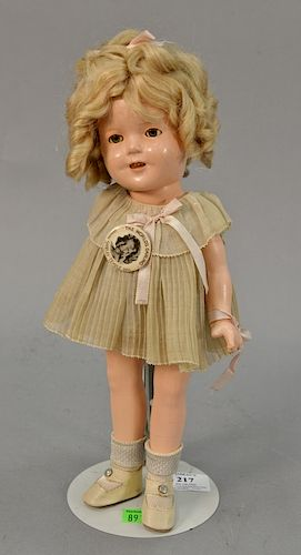 b3b74d155e73 Ideal Shirley Temple composition doll with original dress, (hairline ...