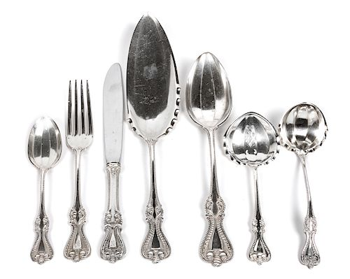 * A Partial American Silver Flatware Service, Towle Silversmiths, Newburyport, MA, Old Colonial pattern, comprising: 12 dinner k